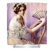 The Pearl Fan Shower Curtain