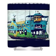 The Penang Ferry Shower Curtain