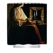 The Penitent Magdalen, Georges De La Tour Shower Curtain