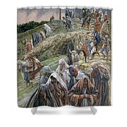 The People Beholding The Things That Were Done Smote Their Breasts Shower Curtain