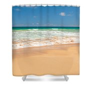 The Perfect Beach - Kapaa Kauai Hawaii Shower Curtain