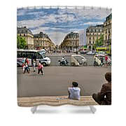 The Perfect View- Avenue De L'opera Paris  Shower Curtain