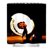 The Performer Shower Curtain