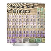 The Periodic Table Of Elements 1 Shower Curtain