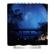The Perisphere At Night Shower Curtain