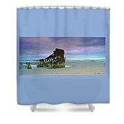 The Peter Iredale Shower Curtain
