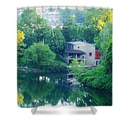 The Philadelphia Canoe Club At The Mouth Of The Wissahickon Shower Curtain