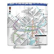 The Philadelphia Pubway Map Shower Curtain
