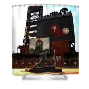 The Phillies - Steve Carlton Shower Curtain by Bill Cannon