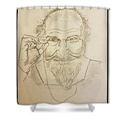 The Philosopher  Shower Curtain