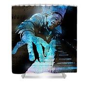 The Piano Man Shower Curtain by Paul Sachtleben