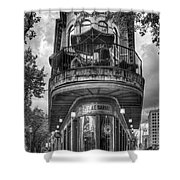 The Pickle Barrel 3 B W Flatiron Architecture Chattanooga Tennessee Art Shower Curtain