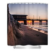 The Pier 2 Shower Curtain by Kim Loftis