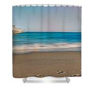The Pier Shower Curtain by Jody Lane