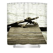 An Old Pier Shower Curtain