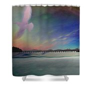 The Pier - White Rock Shower Curtain