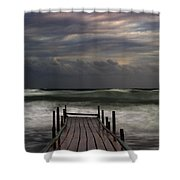 The Pier...ayia Napa Shower Curtain