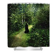 The Pilgrimage Shower Curtain