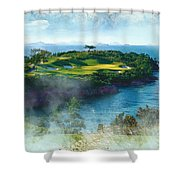 The Pine And Beach Links Shower Curtain