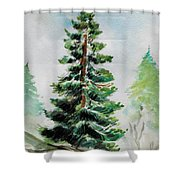 The Pine  Shower Curtain