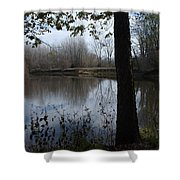 The Pine River Shower Curtain