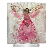The Pink Angel  Shower Curtain
