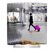 The Pink Bag Shower Curtain