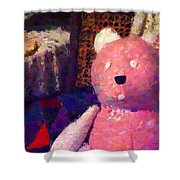 The Pink Bear Shower Curtain