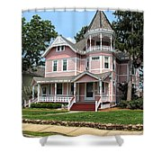 The Pink House 2 Shower Curtain