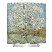 The Pink Peach Tree Arles, April - May 1888 Vincent Van Gogh 1853  1890 Shower Curtain
