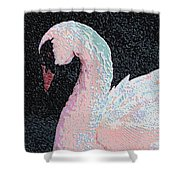 The Pink Swan Shower Curtain