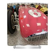 The Pink Zink 1955 Indy 500 Winner Shower Curtain