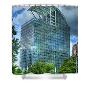 The Pinnacle Reflections Office Buildings Buckhead Atlanta Art Shower Curtain