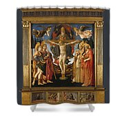 The Pistoia Santa Trinita Altarpiece Shower Curtain