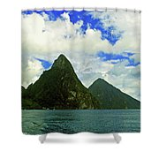 The Pitons Shower Curtain