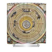 The Planisphere Of Ptolemy, Harmonia Shower Curtain by Science Source