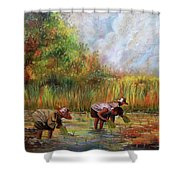 The Planting Shower Curtain