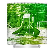 The Playground I - Ocean County Park Shower Curtain