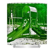 The Playground II - Ocean County Park Shower Curtain