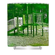 The Playground IIi - Ocean County Park Shower Curtain