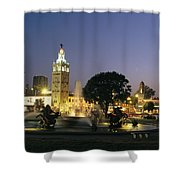 The Plaza In Kansas City, Mo, At Night Shower Curtain