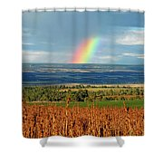 The Pleasant View Rainbow Shower Curtain