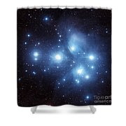The Pleiades Star Cluster Shower Curtain by Charles Shahar