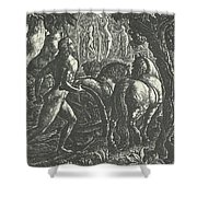 The Ploughman Christian Ploughing The Last Furrow Of Life Shower Curtain