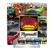 The Plymouth Rapid Transit System Collage Shower Curtain
