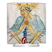 The Poet Laureate With Flute Shower Curtain