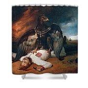 The Polish Prometheus Horace Vernet Shower Curtain