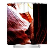 The Polished Rocks Of Lower Antelope Canyon Shower Curtain