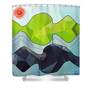 The Poly Landscape Shower Curtain