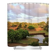 The Pond At Prince Kuhio Park Shower Curtain